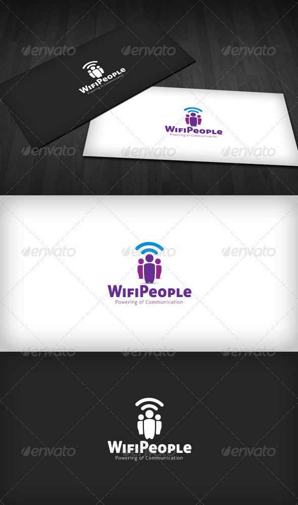 Wifi People Logo - Symbols Logo Templates