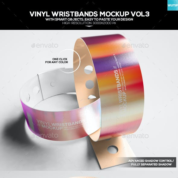Vinyl Wristbands Mockup Vol3