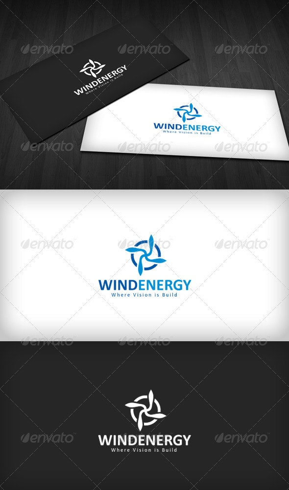 Wind Energy Logo - Vector Abstract