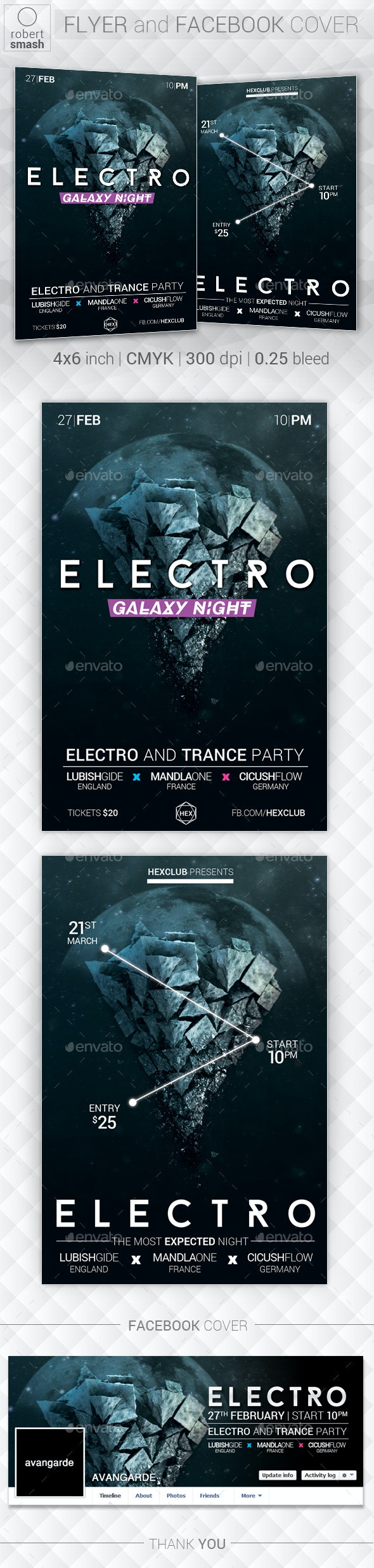 Galaxy Night Music Flyer - Clubs & Parties Events