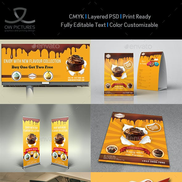 Cake and Cafe Advertising Bundle Vol3