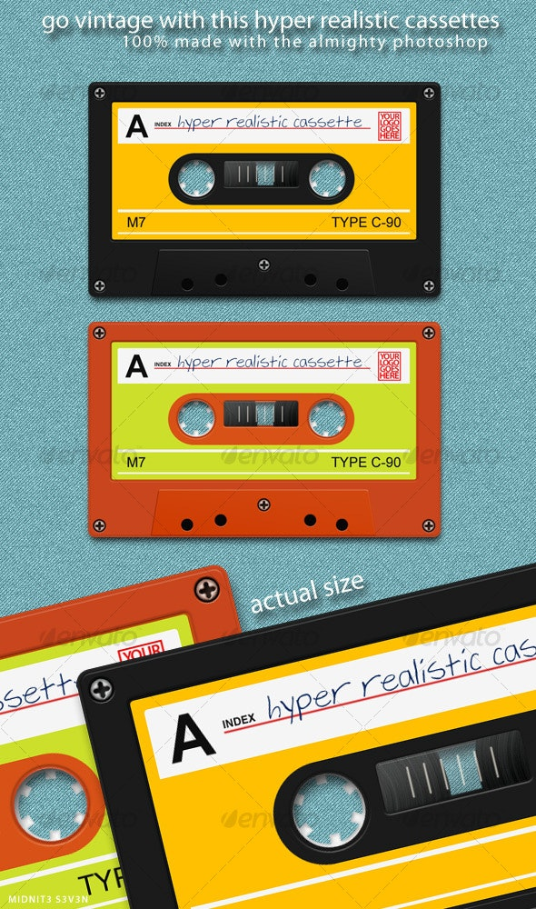 Hyper Realistic Cassette - Objects Illustrations