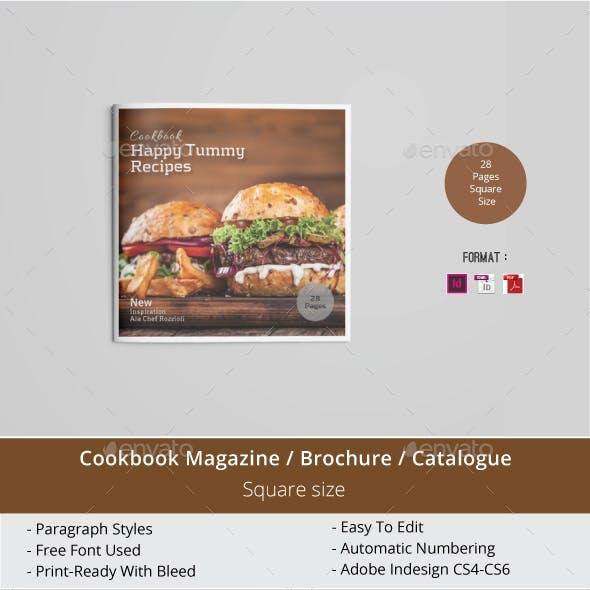 Square Cookbook magazine / Brochure Template