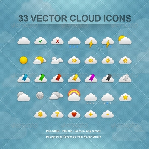 Cloud Icons - Web Icons
