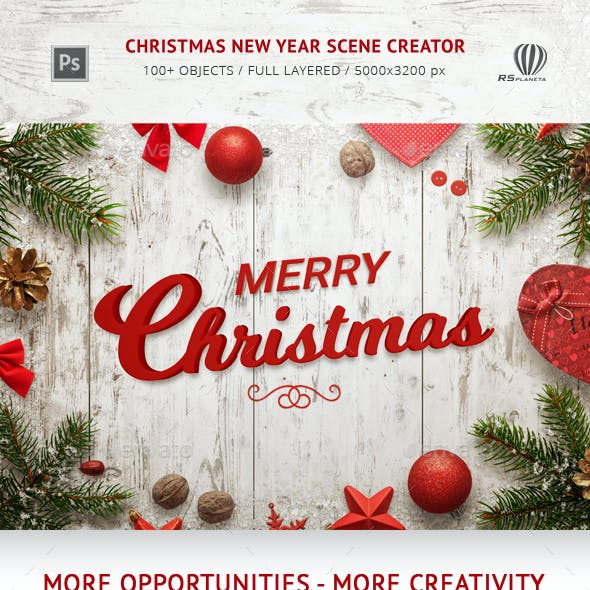 Christmas New Year Scene Creator