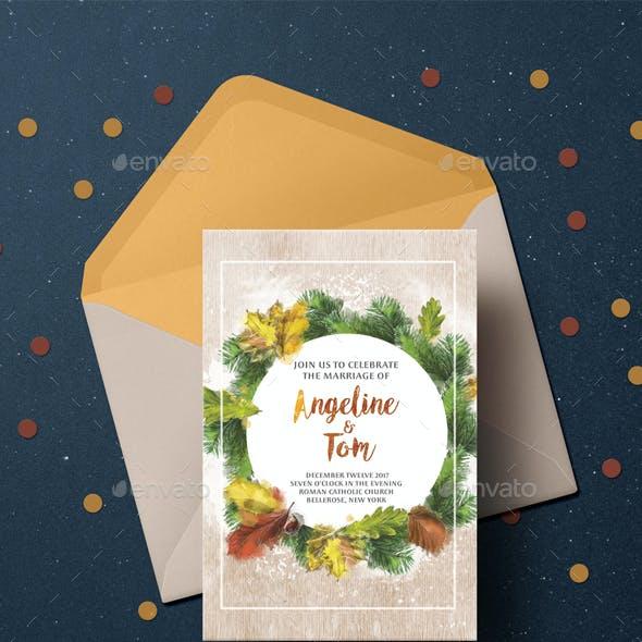Warm Autumn Wedding Invitation Suite