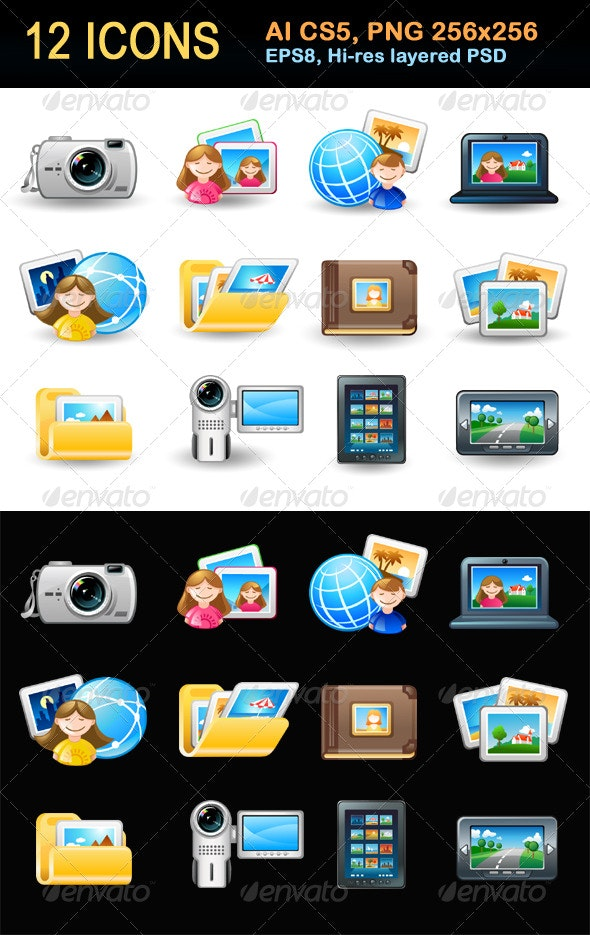 Icon Set - Pictures - Web Icons