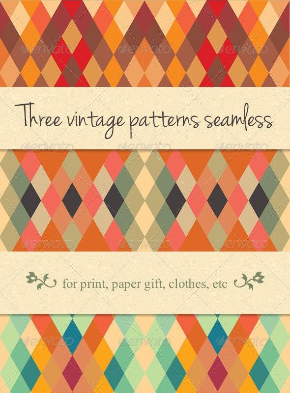 3 Pattern Seamless Vintage Style Set - Patterns Decorative