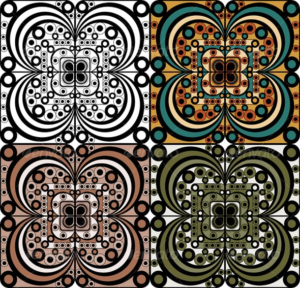 Set of ornamental elements - Backgrounds Decorative