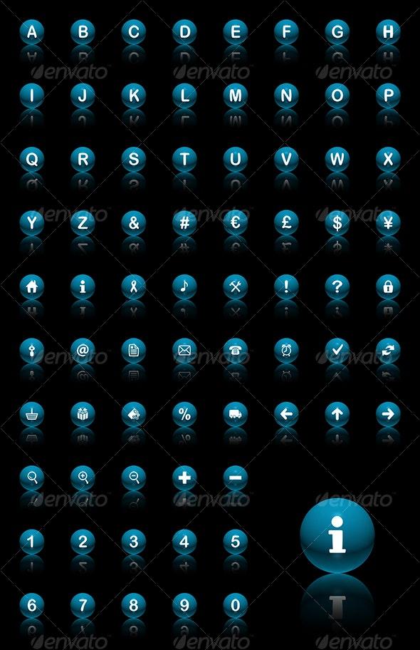 spheres icon set