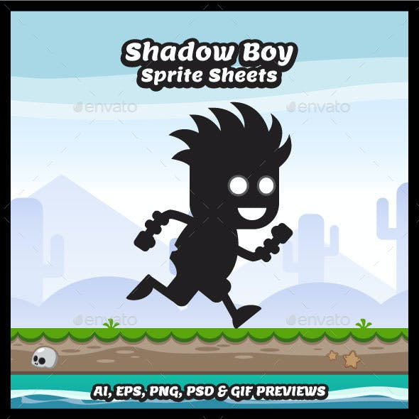 Shadow Boy Game Character Sprite Sheets