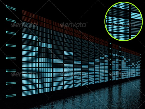 graphic equalizer display - 3D Backgrounds