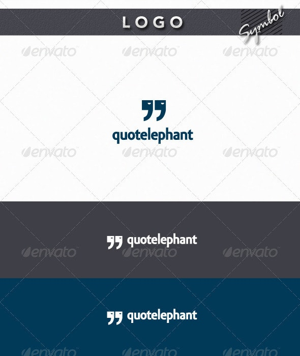 QuoteLephant Logo - Symbols Logo Templates