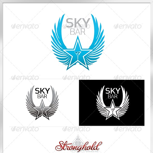 Sky Bar Logo Template