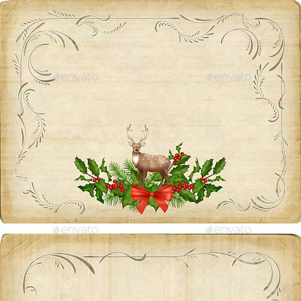 Vintage Christmas Card Set