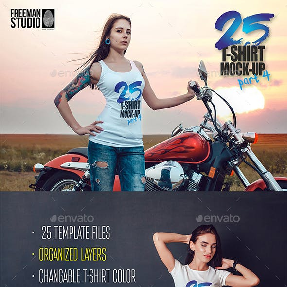 25 T-Shirt Mock-Up
