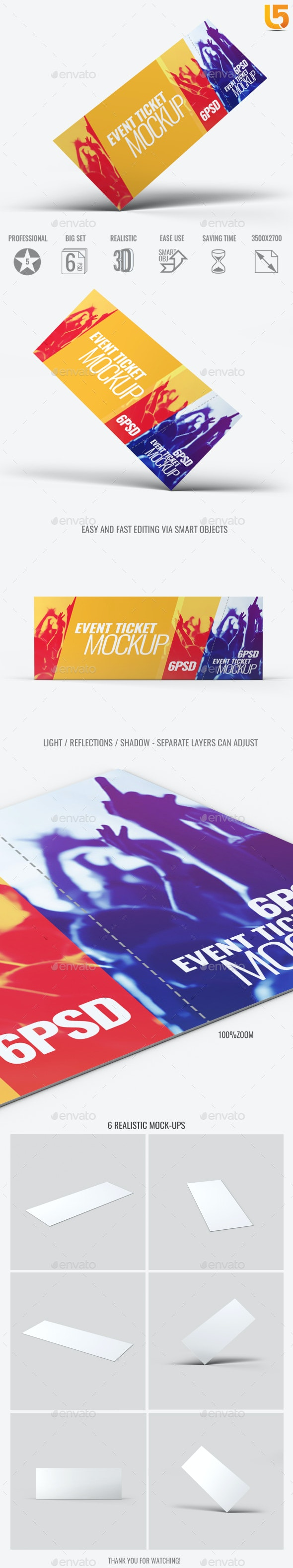 Event Tickets Mock-Up - Miscellaneous Print