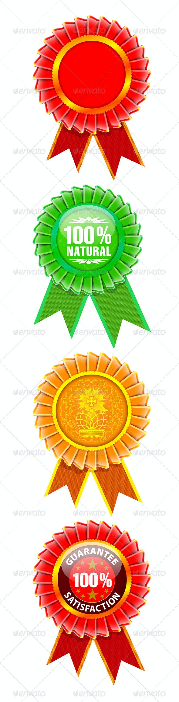 Award rosette set - Abstract Conceptual