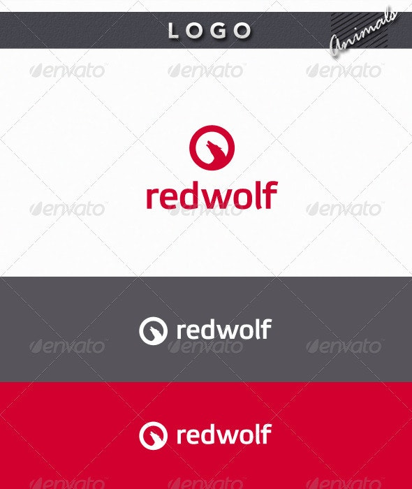 Red Wolf Logo - Animals Logo Templates