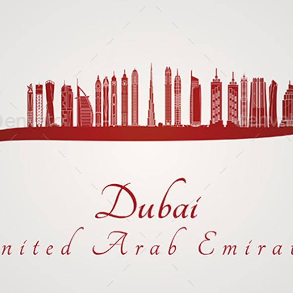 Dubai V2 Skyline in Red