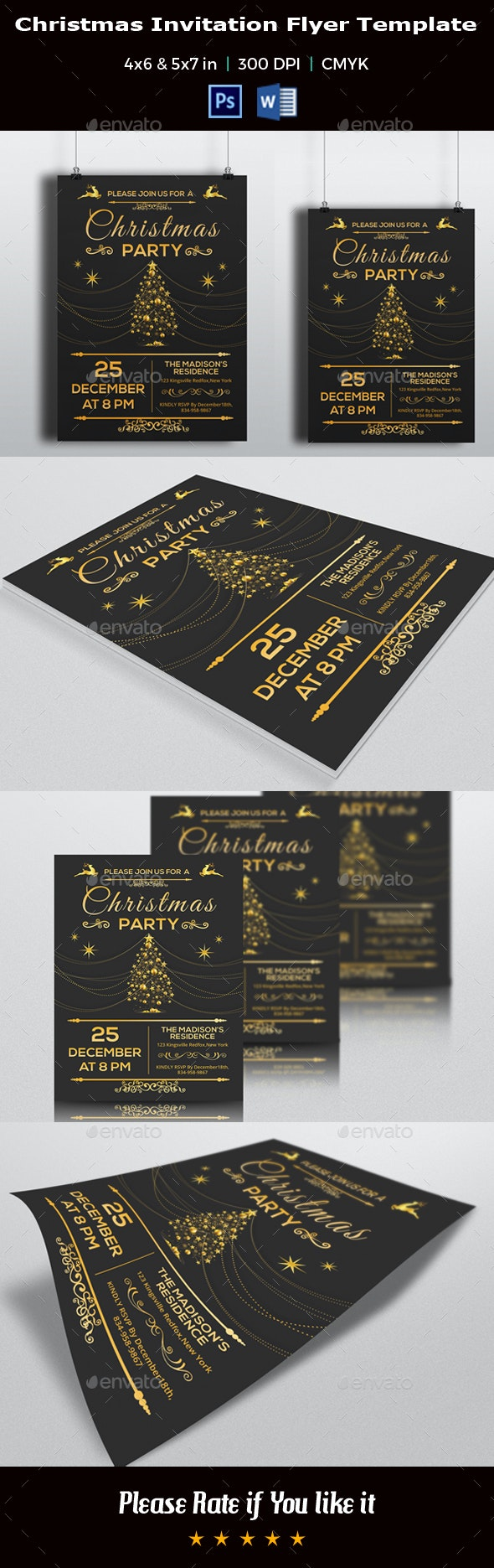 Christmas Invitation Flyer Template V02 - Events Flyers