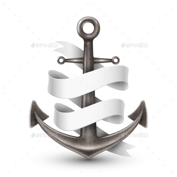 Anchor with Ribbon Design