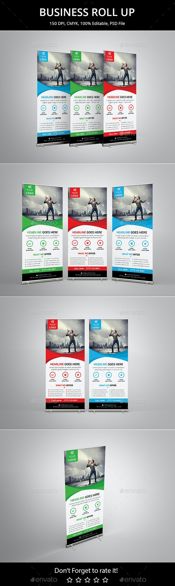 Corporate Business Roll up v1 - Signage Print Templates