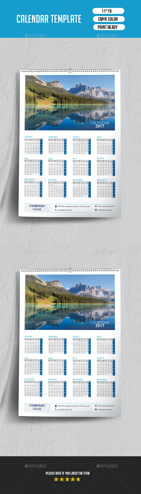 Wall Calendar 2017 | Updated -V02 - Calendars Stationery