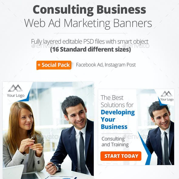 Consulting Business Web Ad Marketing Banners