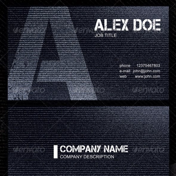 """Initials"" Corporate  Business Cards"