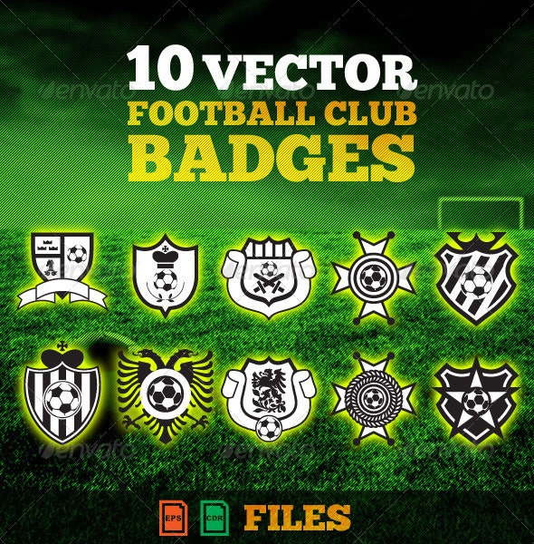 Football(Soccer) Club Badges Pack - Sports/Activity Conceptual