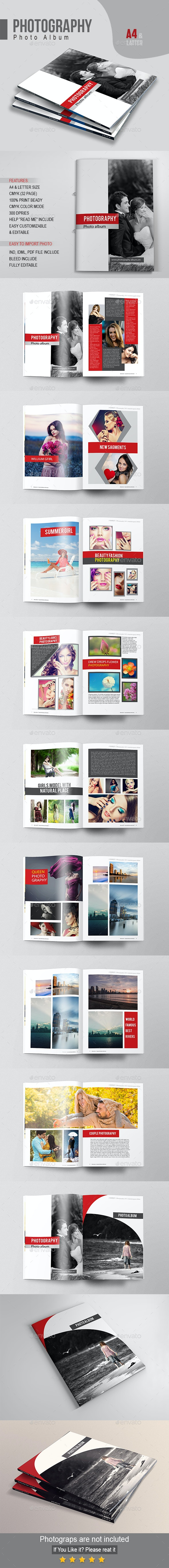 Photography Photo Album - Photo Albums Print Templates