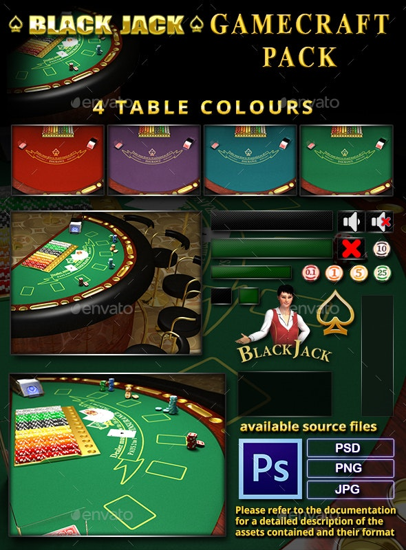 BlackJack Game Assets - Miscellaneous Game Assets
