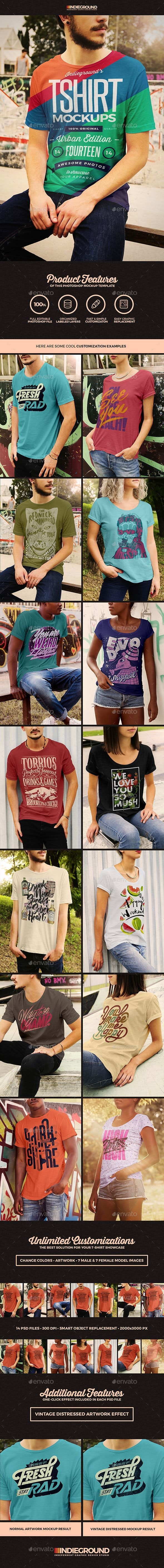 Urban T-Shirt Mockups - T-shirts Apparel