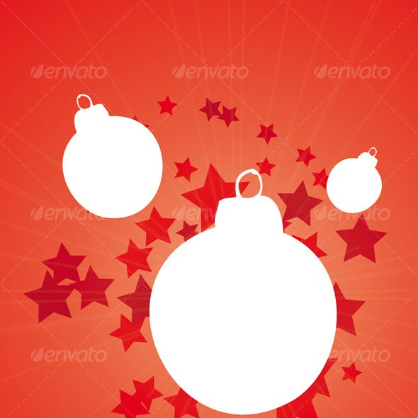 merry christmas with bauble