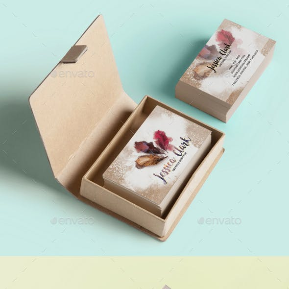 Warm Watercolor Business Card