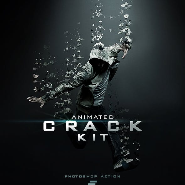 Gif Animated Crack Kit Photoshop Action