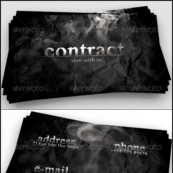 Contract business card