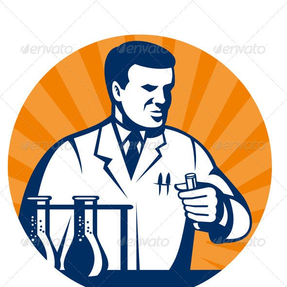 Scientist Researcher Lab With Test Tube