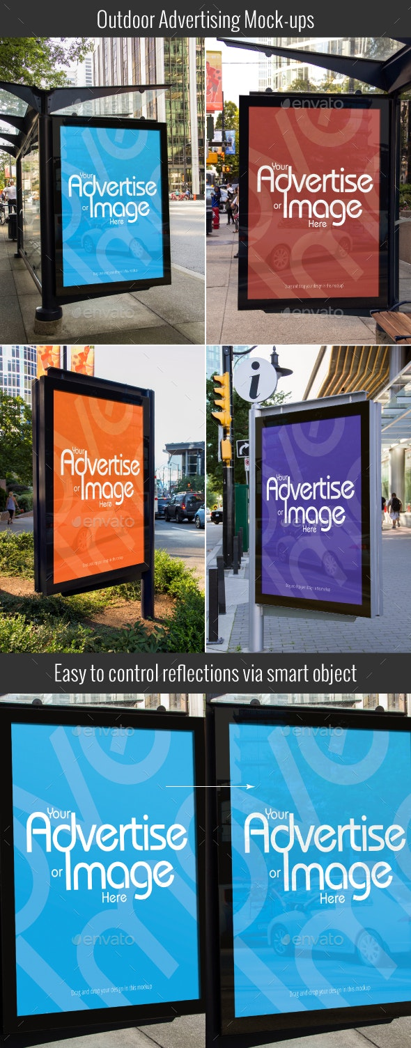 Outdoor Advertising Mock-ups - Signage Print