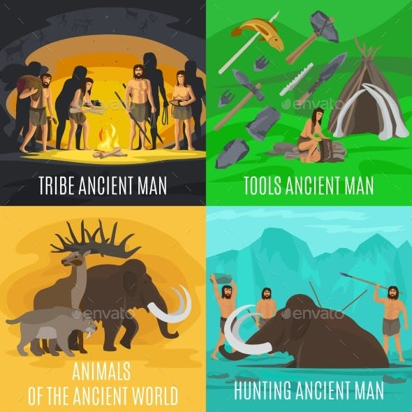 Ancient Prehistoric Stone Age Concepts