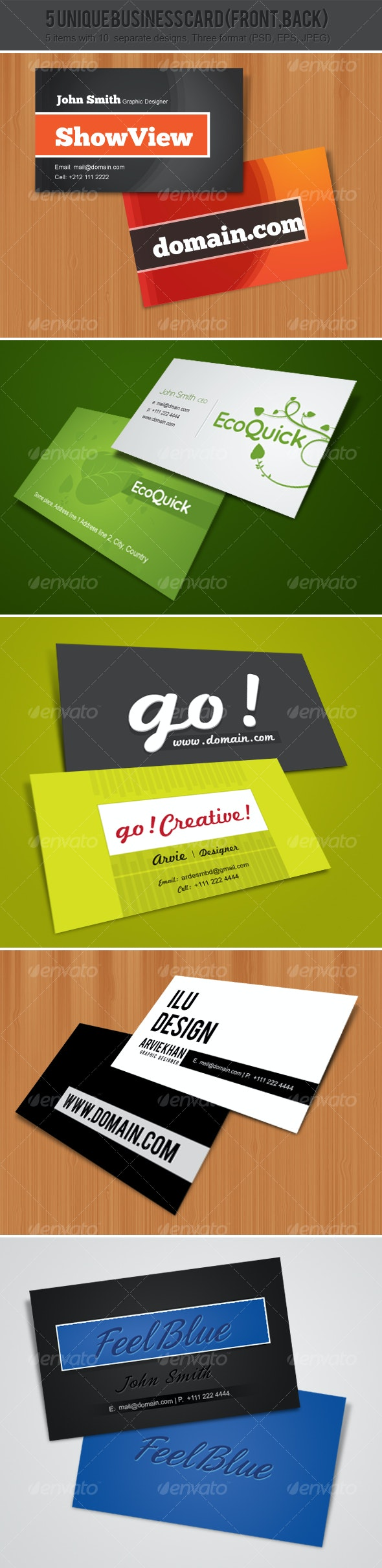 5 Unique Business Cards - Creative Business Cards