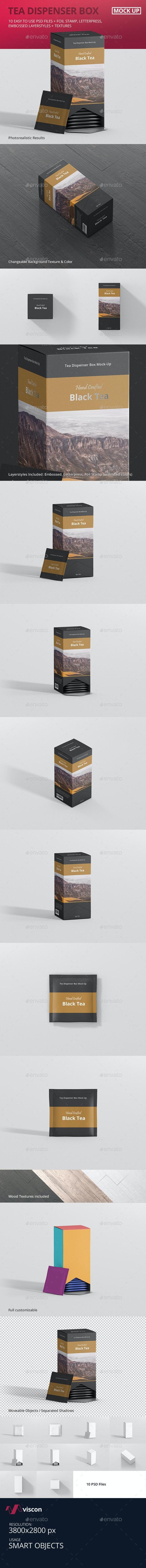 Tea Dispenser Box Mockup - Food and Drink Packaging