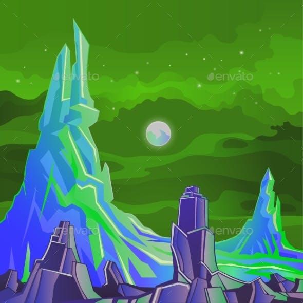 Space Landscape Rocks