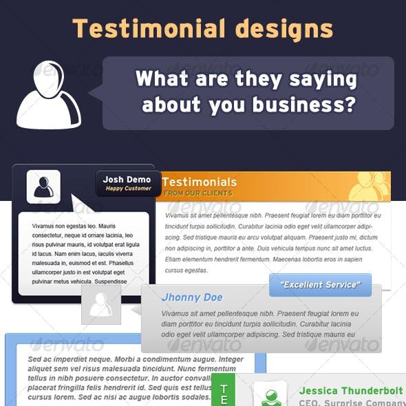 Testimonial Designs
