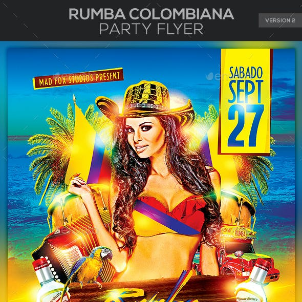 Rumba Colombiana Party Flyer