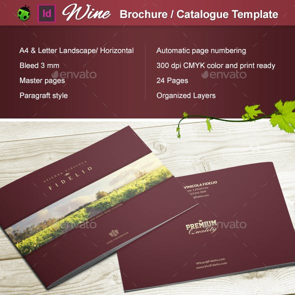 Wine Brochure / Catalogue