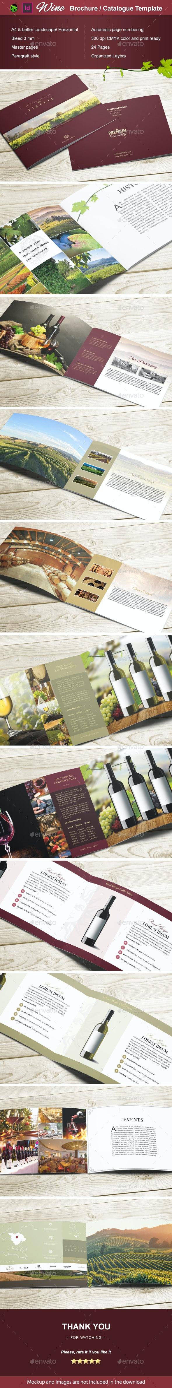 Wine Brochure / Catalogue - Catalogs Brochures