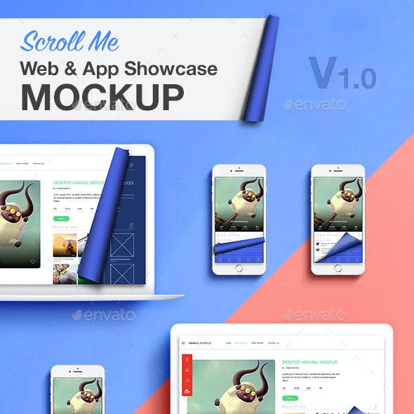 Scroll Web App Showcase Mockup