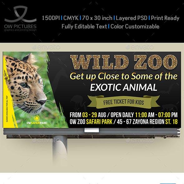 Zoo Billboard Template